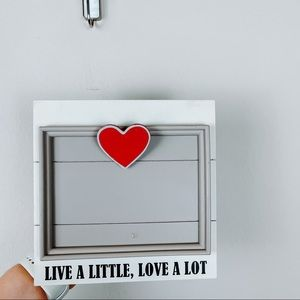 Live A Little Love A Lot Heart Picture Frame
